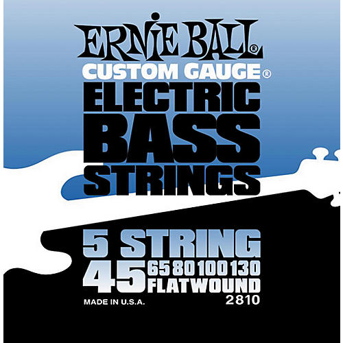 Ernie Ball 2810 Flatwound 5-String Bass Strings Set