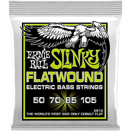 Ernie Ball 2812 Regular Slinky Flatwound Bass Strings-thumbnail