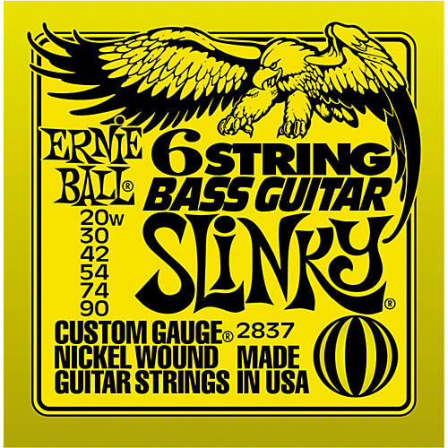 Ernie Ball 2837 Slinky Silhouette Short-Scale 6-String Bass Strings-thumbnail