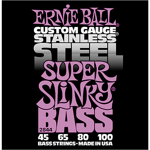 Ernie Ball 2844 Super Slinky Stainless Steel Bass Strings-thumbnail