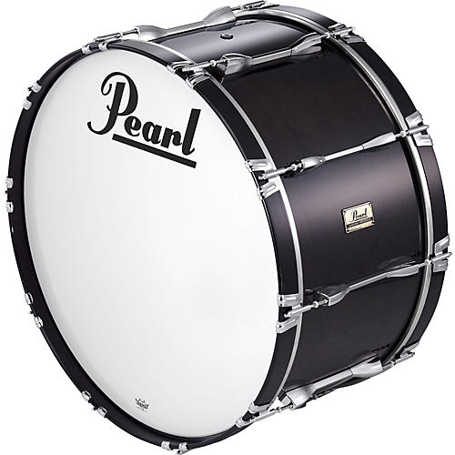 Pearl 28x14 Championship Series Marching  Bass Drum Midnight Black