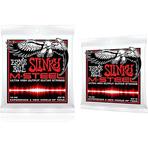 Ernie Ball 2915 M-Steel Skinny Top Heavy Bottom Electric Guitar Strings 2-Pack-thumbnail