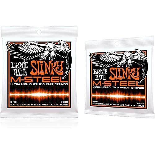 Ernie Ball 2922 M-Steel Hybrid Slinky Electric Guitar Strings 2-Pack-thumbnail