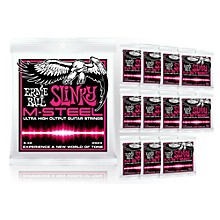 Ernie Ball 2923 M-Steel Super Slinky Electric Guitar Strings - Buy 10, Get 2 FREE