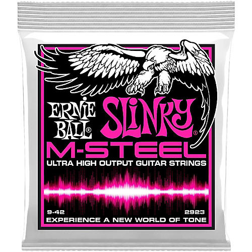 Ernie Ball 2923 M-Steel Super Slinky Electric Guitar Strings-thumbnail