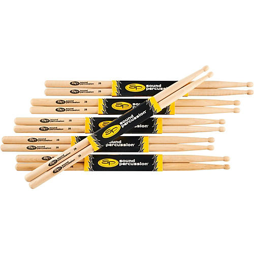 Sound Percussion Labs 2B Drumsticks, 6-Pack