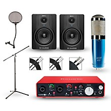 Focusrite 2i2 2nd Gen Interface with MXL 4000 and M-Audio BX5 Pair
