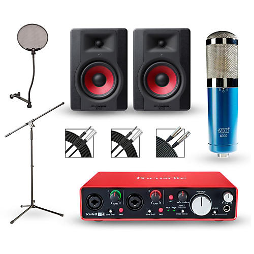 how to set up focusrite scarlett 2i2 with a monitor