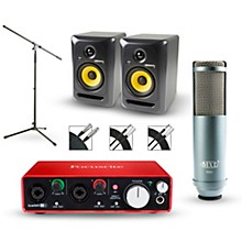 Focusrite 2i2 2nd Gen Interface with MXL R80 and Rokit RP5G3 Pair