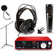 Focusrite 2i2 2nd Gen Interface with Sterling ST51 and CAD MH300