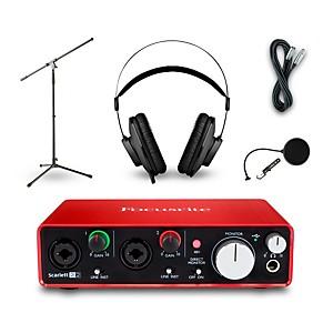Focusrite 2i2 Recording Bundle with AKG K52 Headphones