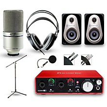 Focusrite 2i2 Recording Bundle With MXL 990 And Akg M80MkII Headphones