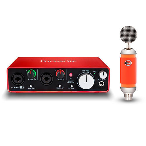 Focusrite 2i2 Recording Bundle with Blue Spark Mic