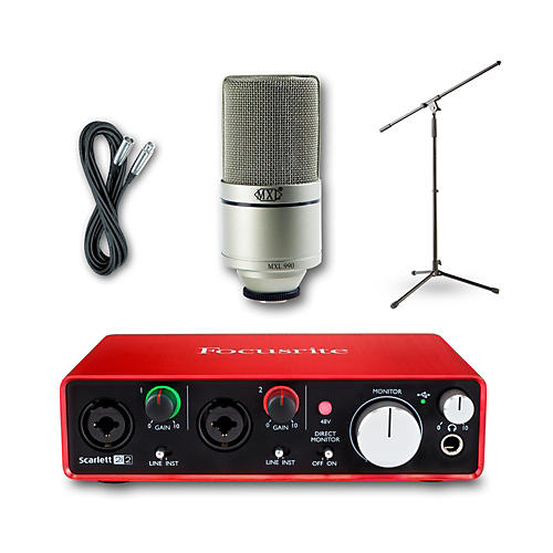 Focusrite 2i2 Recording Bundle with MXL 990 Mic-thumbnail