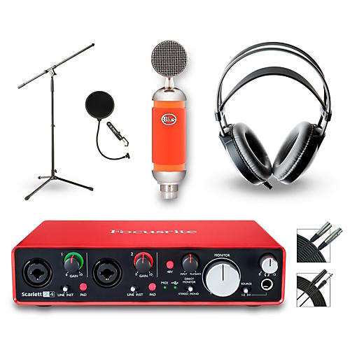 Focusrite 2i4 Recording Bundle with Blue Mic and AKG Headphones-thumbnail