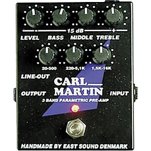 Carl Martin 3-Band Parametric EQ/Pre-amp by Carl Martin