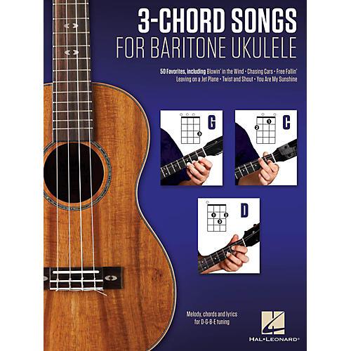 Hal Leonard 3-Chord Songs For Baritone Ukulele (G-C-D)-thumbnail