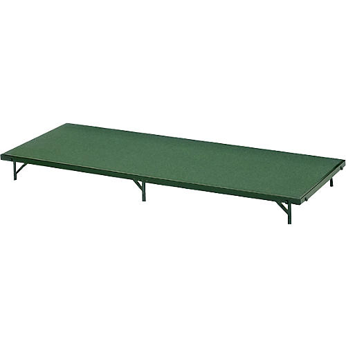 Midwest Folding Products 3' Deep X 6' Wide Single Height Portable Stage & Seated Riser-thumbnail