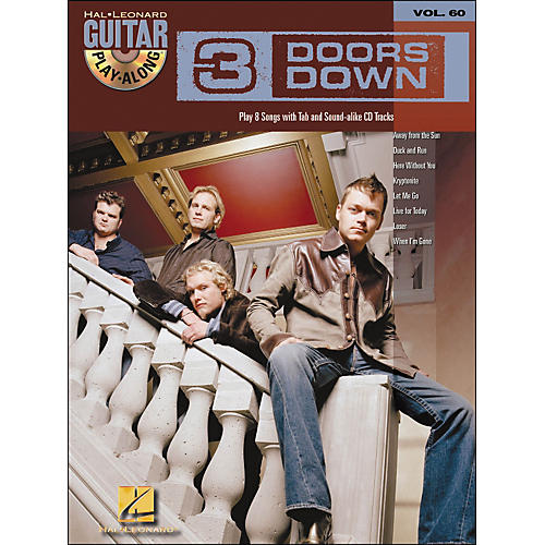 Hal Leonard 3 Doors Down Guitar Play-Along Volume 60 Book/CD-thumbnail