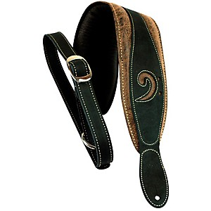 LM Products 3 inch Leather Bass Clef Padded Guitar Strap by LM Products