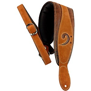 LM Products 3 inch Leather Bass Clef Padded Guitar Strap