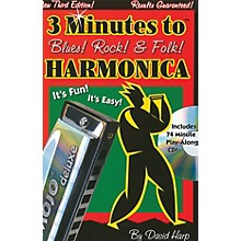 Music Sales 3 Minutes to Blues, Rock & Folk Harmonica Music Sales America Series Softcover with CD by David Harp