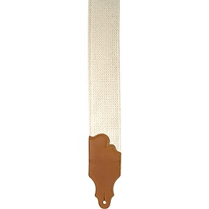 Franklin Strap 3 inch Natural Cinch Guitar Strap with Leather Ends