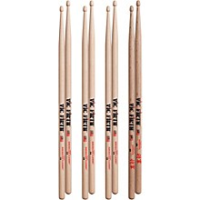 Vic Firth 3-Pair 5A Sticks with Free Pair Shogun 5A Oak Wood Tip