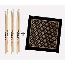 Vic Firth 3-Pair 5A Sticks with Free Vic Firth 50th Logo Bandana