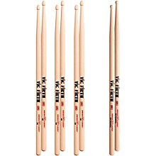 Vic Firth 3-Pair 5B Sticks with Free Pair 5B Barrel Wood Tip