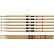 3-Pair 5B Sticks with Free Pair Shogun 5B Oak Wood Tip