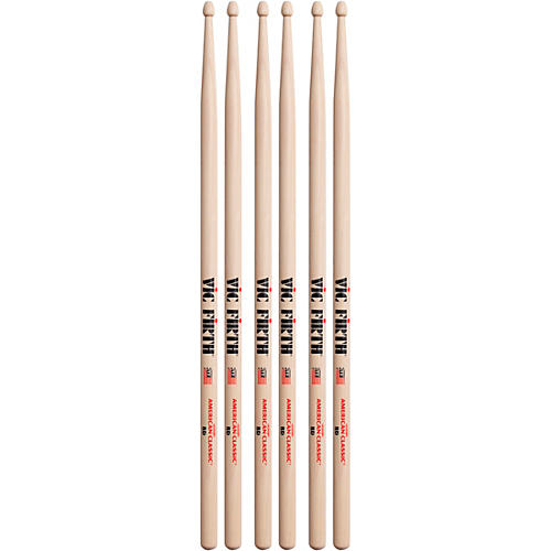 Vic Firth 3-Pair American Classic Hickory Drumsticks-thumbnail