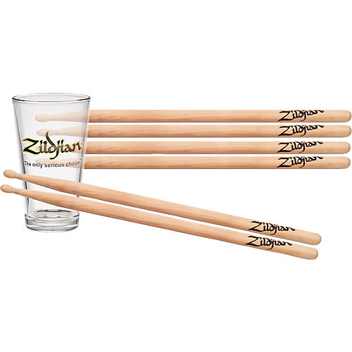 Zildjian 3-Pair Maple Drumsticks & Pint Glass Pack