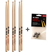Vic Firth 3 Pairs of SD1 Sticks with Free Universal Practice Tips