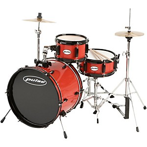 3-Piece Deluxe Junior Drum Set Bright Red
