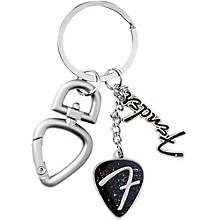 Fender 3-Piece F Logo Keychain with Clip - Chrome