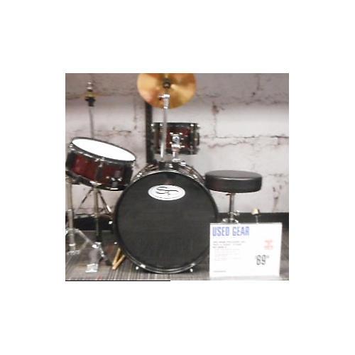 Sound Percussion Labs 3 Piece LIL KICKER - JR DARK RED Drum Kit-thumbnail