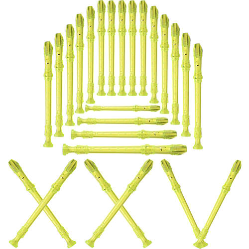 Lyons 3-Piece Recorder Baroque Fingering Transparent Green 25-Pack