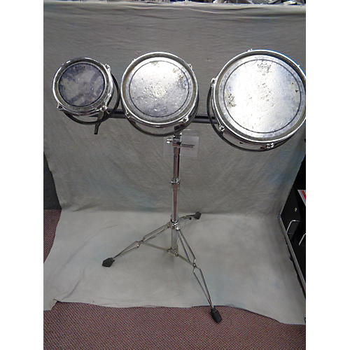 Remo 3 Piece Rototom Set Of 3 With Stand Roto Toms-thumbnail