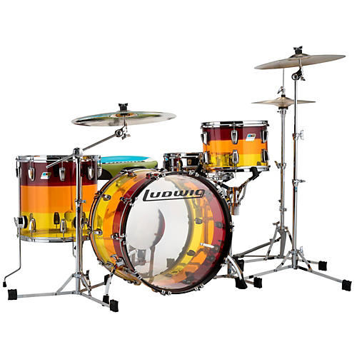 Ludwig 3-Piece Vistalite Tequila Sunrise Shell Pack-thumbnail
