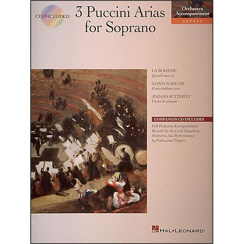 Hal Leonard 3 Puccini Arias for Soprano Book/CD Pkg-thumbnail