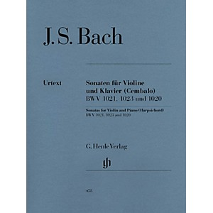 G. Henle Verlag 3 Sonatas for Violin and Piano Harpsichord BWV 1020, 1021... by