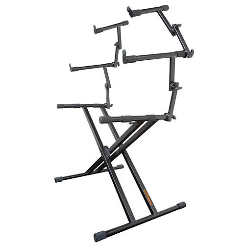 roland 3 tier double x braced keyboard stand guitar center. Black Bedroom Furniture Sets. Home Design Ideas