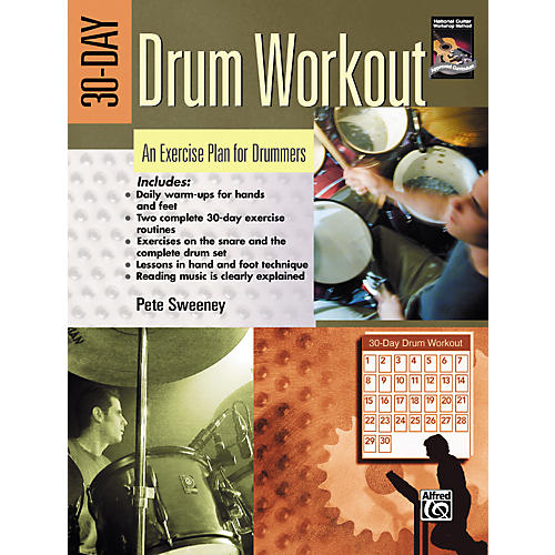 Alfred 30-Day Drum Workout (Book/DVD)-thumbnail