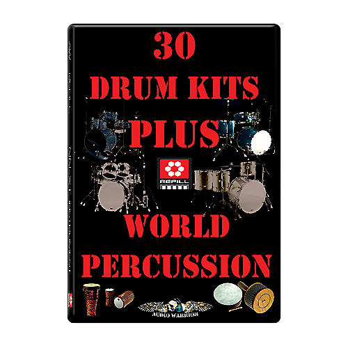 AudioWarrior 30 Drum Kits and World Percussion Reason Refill-thumbnail