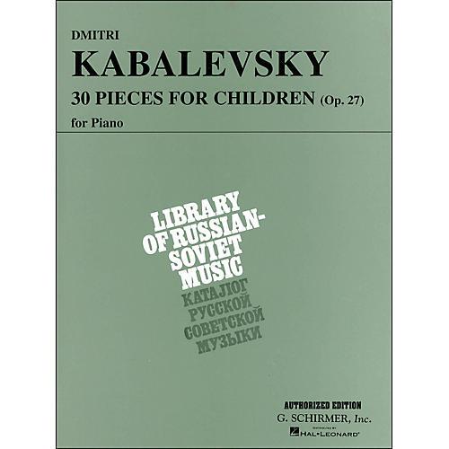 G. Schirmer 30 Pieces for Children Op 27 Piano By Kabalevsky-thumbnail