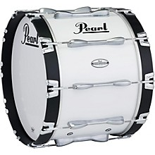 Pearl 30 x 14 in. Championship Maple Marching Bass Drum Level 1 Pure White
