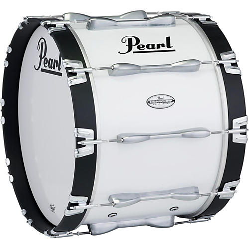 Pearl 30 x 14 in. Championship Maple Marching Bass Drum Pure White-thumbnail