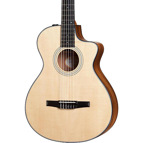Taylor 300 Series 312ce-N Grand Concert Nylon String Acoustic-Electric Guitar-thumbnail