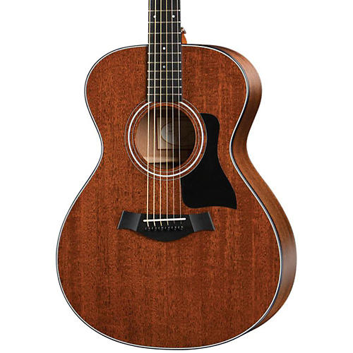 Taylor 300 Series 322 Grand Concert Acoustic Guitar Satin Natural Ebony Fingerboard, Black Pickguard